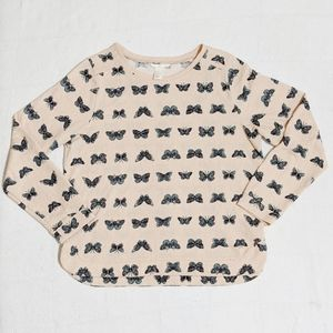 H&M Butterfly Print Long Sleeve Shirt
